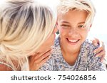 portrait of beautiful mother... | Shutterstock . vector #754026856