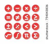 circle mathematics symbol icon... | Shutterstock .eps vector #754043836