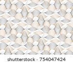 abstract floral pattern. beige... | Shutterstock .eps vector #754047424