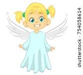 Cartoon Angel. Vecor...