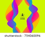 abstract wavy background for... | Shutterstock .eps vector #754060096