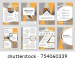 abstract vector layout... | Shutterstock .eps vector #754060339