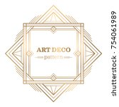 gatsby art deco background.... | Shutterstock .eps vector #754061989