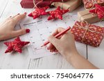 coming xmas day. highlighting... | Shutterstock . vector #754064776