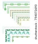 guilloche elements set set of... | Shutterstock .eps vector #754072693