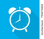 alarm clock icon with long... | Shutterstock .eps vector #754074604