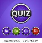quiz show flat concept. vector... | Shutterstock .eps vector #754075159