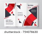 tri fold business brochure... | Shutterstock .eps vector #754078630