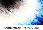 abstract geometric fractal... | Shutterstock . vector #754079200