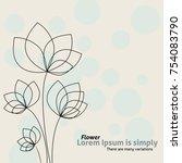 flower vector background.... | Shutterstock .eps vector #754083790