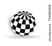 ball with squares of black and... | Shutterstock .eps vector #754083808