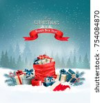 christmas holiday background... | Shutterstock .eps vector #754084870