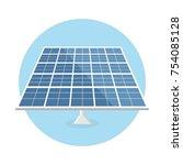 solar panel flat design icon... | Shutterstock .eps vector #754085128