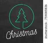 minimal christmas design | Shutterstock .eps vector #754085836