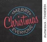 typographic christmas design  ... | Shutterstock .eps vector #754085854