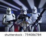 star wars captain rex with... | Shutterstock . vector #754086784