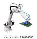 robotic arm for industry with... | Shutterstock . vector #754090300