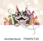 mailing template for the new... | Shutterstock .eps vector #754091710