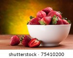 Appetizing Strawberry In The...