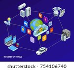 internet of things iot smart... | Shutterstock . vector #754106740