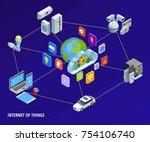 internet of things iot smart... | Shutterstock . vector #754106740
