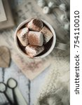 hot chocolate with marshmallows | Shutterstock . vector #754110010