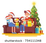 merry christmas and new year.... | Shutterstock .eps vector #754111348