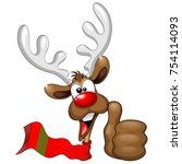 cool and happy christmas... | Shutterstock .eps vector #754114093