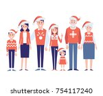 merry christmas and new year....   Shutterstock .eps vector #754117240