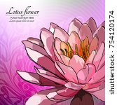 lotus flower on the abstract... | Shutterstock .eps vector #754120174