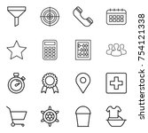 thin line icon set   funnel ...