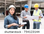 engineering construction... | Shutterstock . vector #754123144