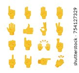 set of hands on white... | Shutterstock .eps vector #754127329