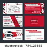 set of automotive service... | Shutterstock .eps vector #754129588