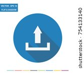upload symbol flat icon with... | Shutterstock .eps vector #754133140