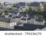 luxembourg city details. top... | Shutterstock . vector #754136170