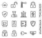 thin line icon set   wireless... | Shutterstock .eps vector #754136320