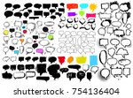 set of sketchy hand drawn... | Shutterstock .eps vector #754136404