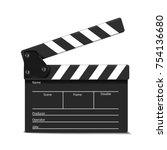cinema clap. vector illustration | Shutterstock .eps vector #754136680