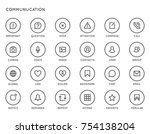 communication user interface ... | Shutterstock . vector #754138204