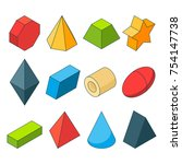 colorful isometric pictures of... | Shutterstock .eps vector #754147738