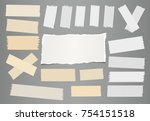 white ripped notebook  note... | Shutterstock .eps vector #754151518