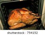 turkey in oven | Shutterstock . vector #754152
