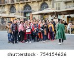 florence  italy   october 30th  ... | Shutterstock . vector #754154626