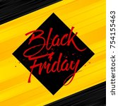 abstract vector black friday... | Shutterstock .eps vector #754155463