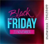 abstract vector black friday...   Shutterstock .eps vector #754155499