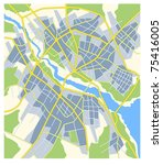 plan of abstract city map with...   Shutterstock .eps vector #75416005