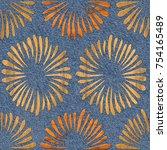 abstract petals   interior...   Shutterstock . vector #754165489