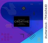 minimal universal banner... | Shutterstock .eps vector #754165630