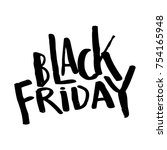black friday calligraphy | Shutterstock .eps vector #754165948